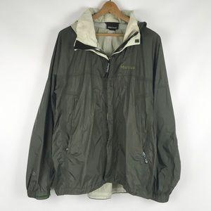 Marmot | green wind breaker full zip hooded 0503